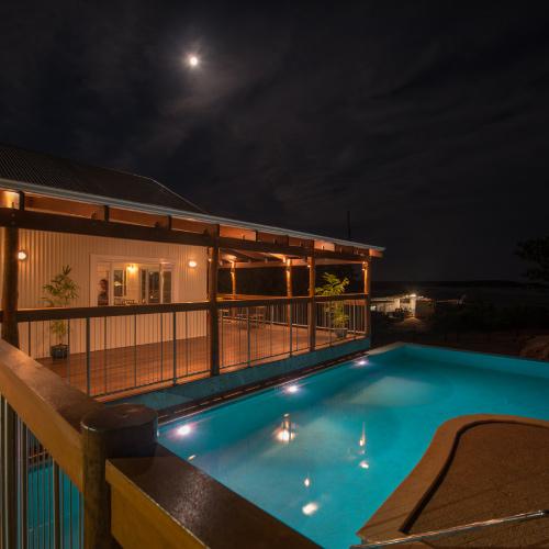 Cygnet Bay Pearl Farm Pool at Night